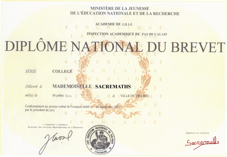 Diplôme National du Brevet - CollegeKarr.fr